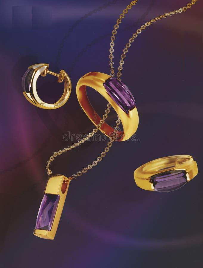 Ornamento del gioielliere dell'accumulazione fotografia stock