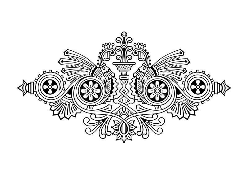 Ornamento del grabado stock de ilustración