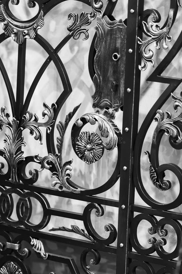 Ornamento del hierro fotografía de archivo libre de regalías