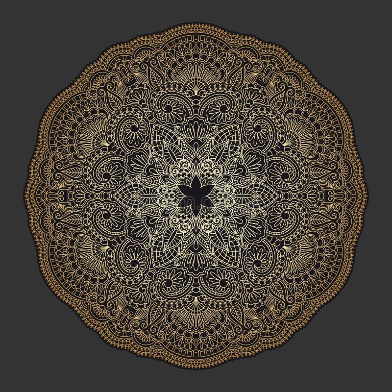 Ornamento del oro del vector. libre illustration