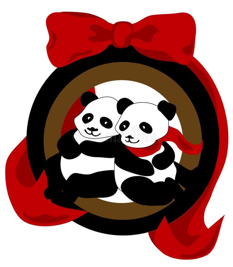 Ornamento del panda di natale illustrazione di stock