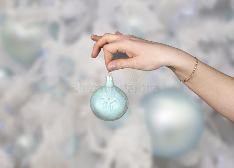 ornamento del Piel-árbol en la Navidad fotos de archivo