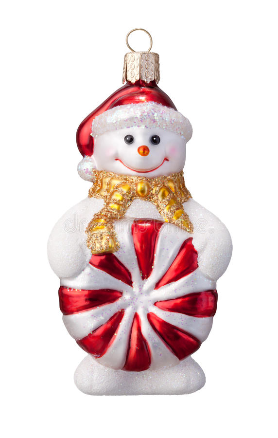 Ornamento del pupazzo di neve immagini stock libere da diritti