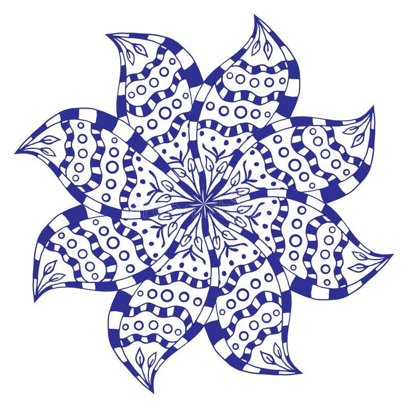 Ornamento del rosetón ilustración del vector