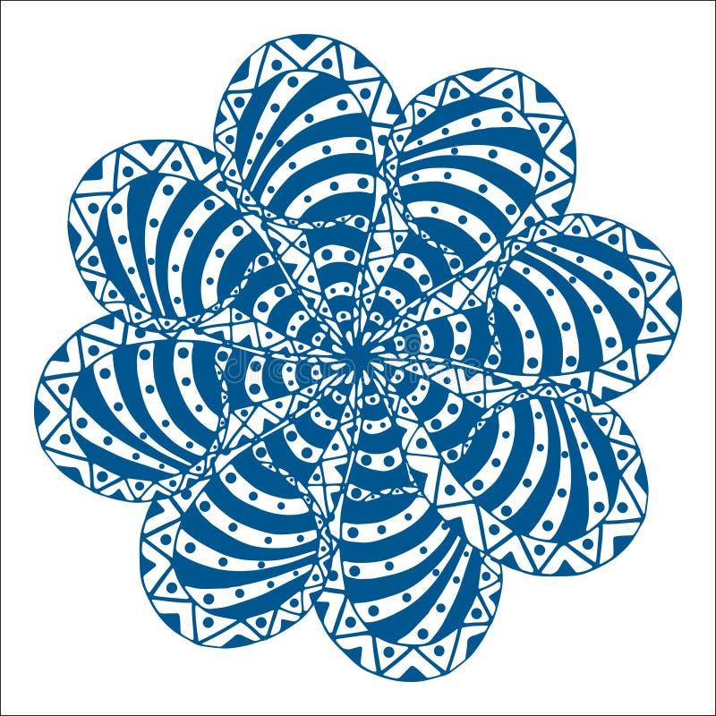 Ornamento del rosetón stock de ilustración