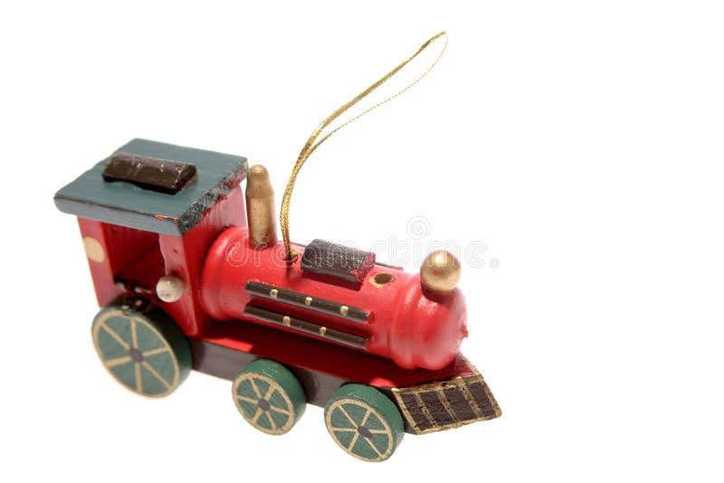 Ornamento del treno del giocattolo di natale immagine stock