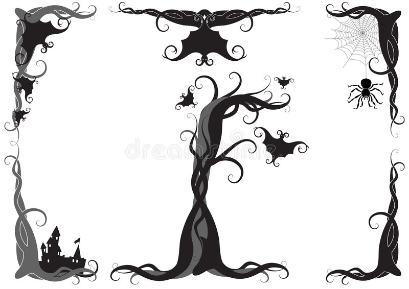 Ornamento del vector de Víspera de Todos los Santos libre illustration