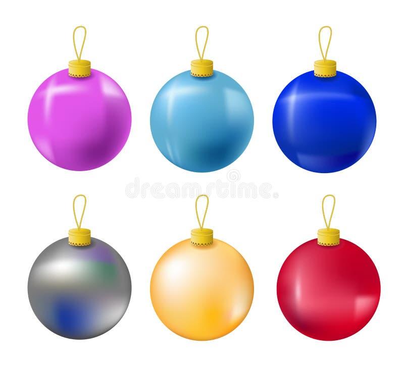 Ornamento dell'albero di abete di Natale isolato su bianco illustrazione di stock