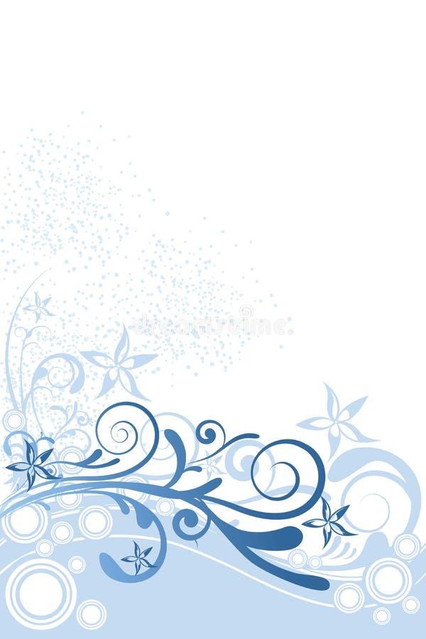 Ornamento dell'azzurro della priorità bassa del fiore illustrazione di stock