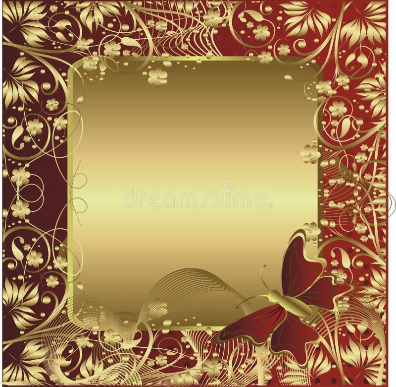 Ornamento dell'oro illustrazione di stock