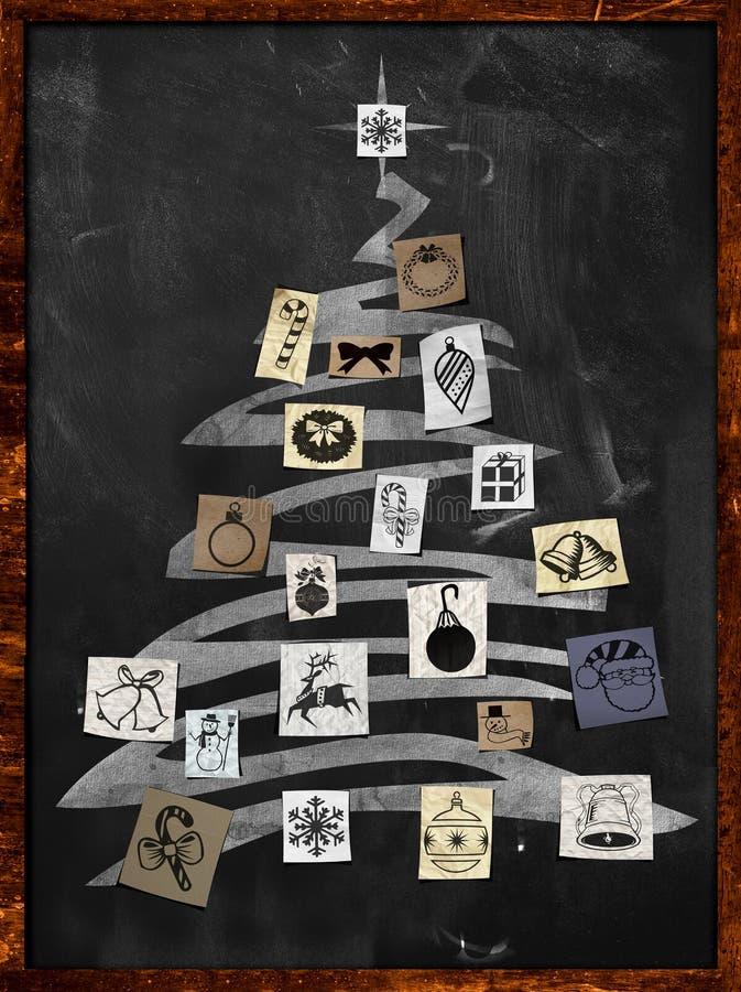 Ornamento della carta dell'albero di Natale illustrazione vettoriale
