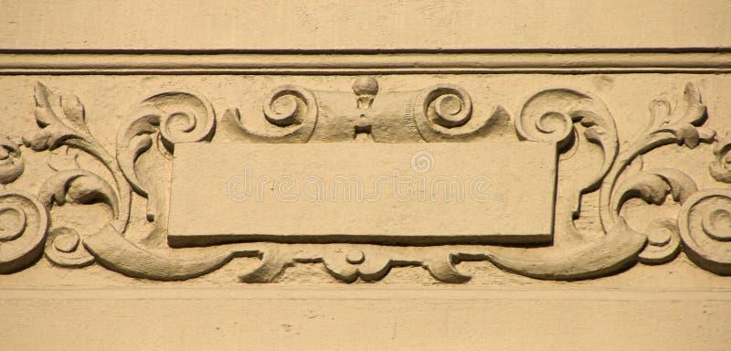 Ornamento della parete fotografia stock