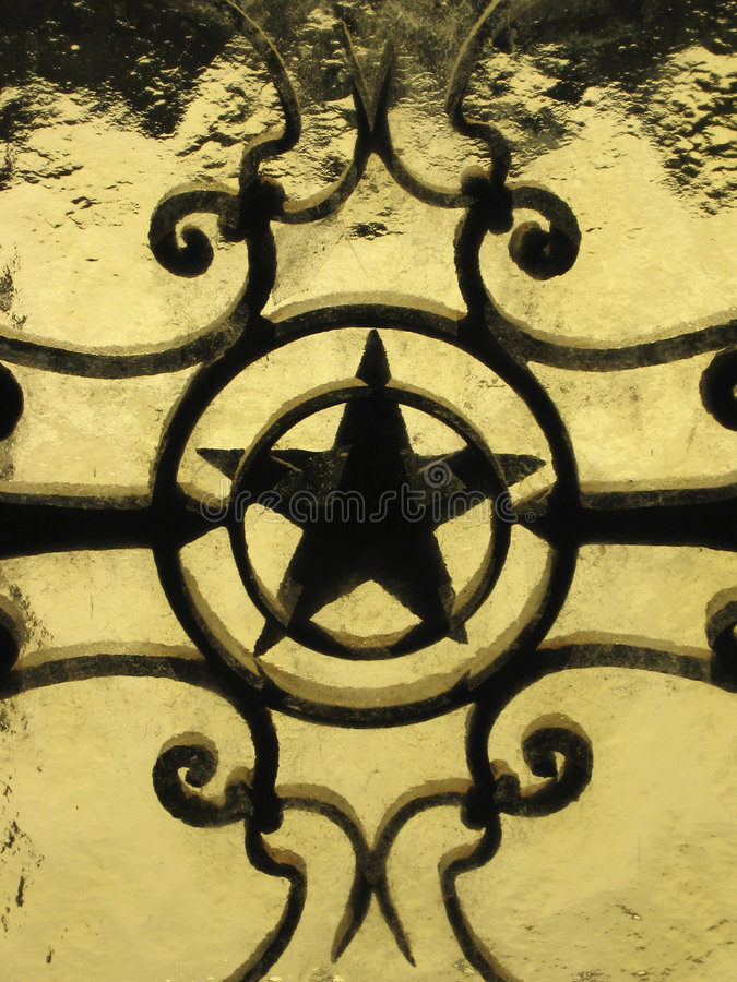 Ornamento della stella fotografie stock libere da diritti