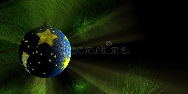 Ornamento di Chrismas, 3d-rendered immagini stock libere da diritti