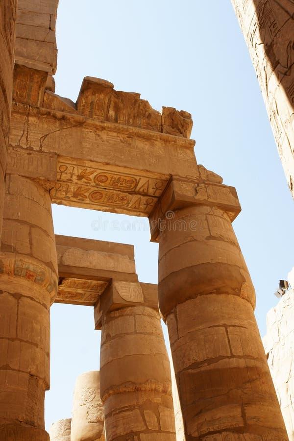 Ornamento di colore del tempiale di Karnak. Luxor. L'Egitto. immagini stock