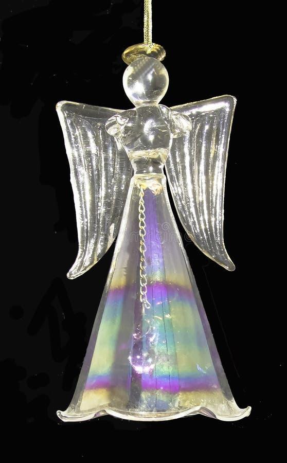 Ornamento di cristallo di Natale di angelo immagine stock libera da diritti