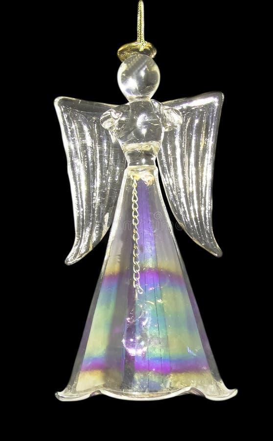 Ornamento di cristallo di Natale di angelo immagini stock