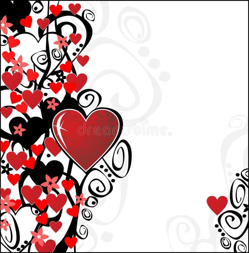 Ornamento di giorno del biglietto di S. Valentino illustrazione vettoriale