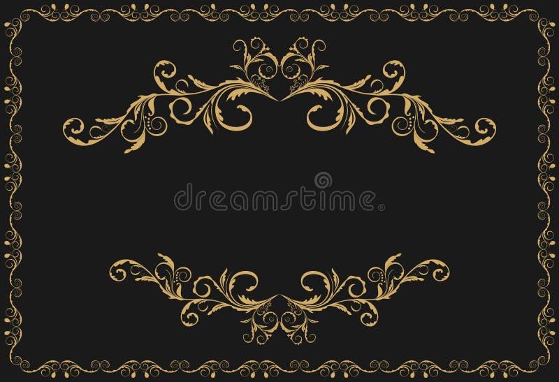 Ornamento di lusso del reticolo dell'oro illustrazione vettoriale