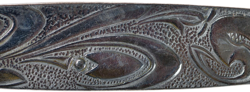 Ornamento di metallo. fotografia stock