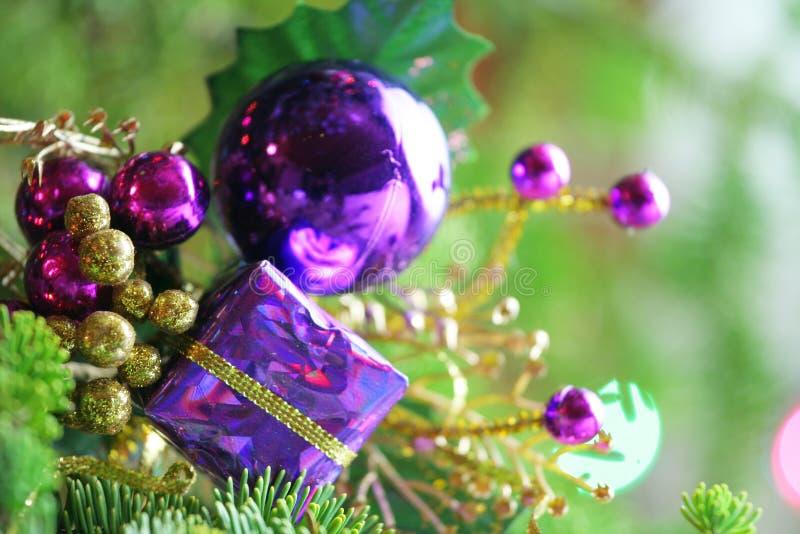 Ornamento di natale in albero fotografie stock libere da diritti