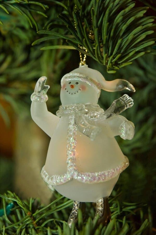 Ornamento di natale del pupazzo di neve fotografia stock