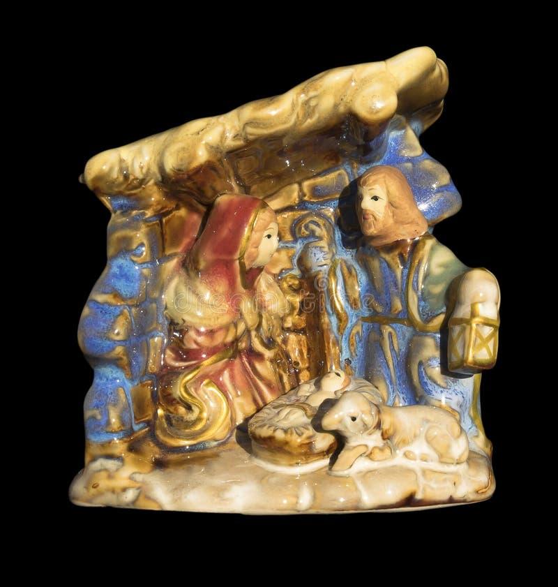 Ornamento di Natale di natività fotografie stock libere da diritti