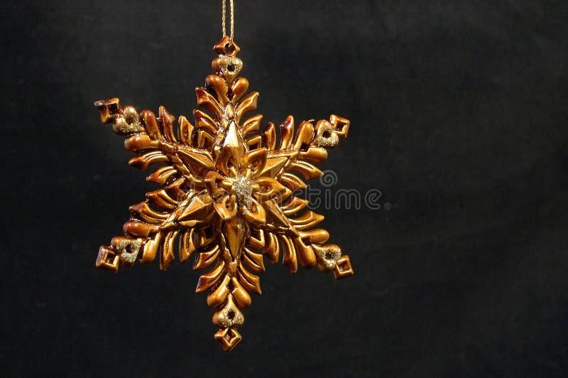Ornamento di natale - stella dorata fotografia stock