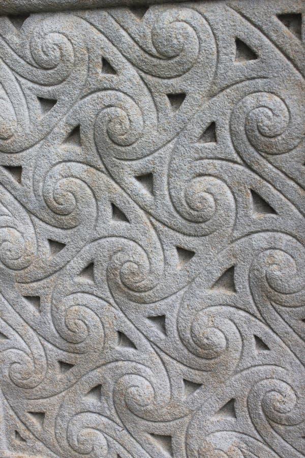 Ornamento di pietra celtico fotografia stock