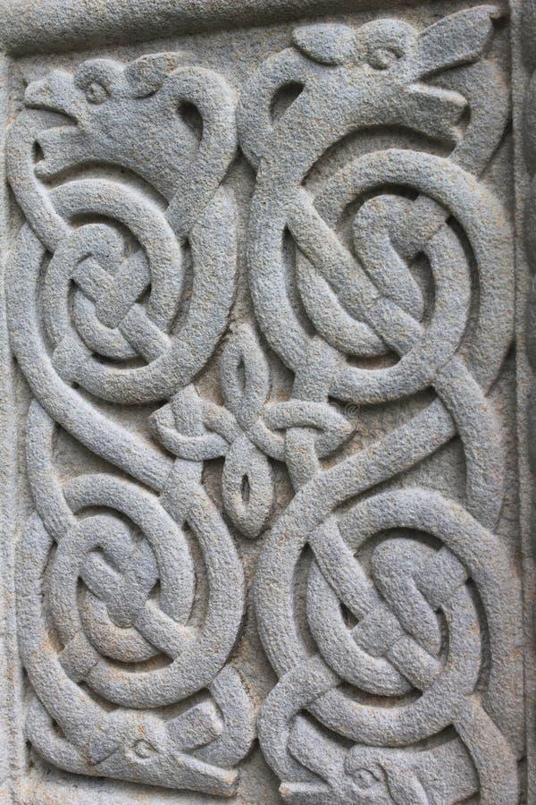 Ornamento di pietra celtico immagini stock libere da diritti