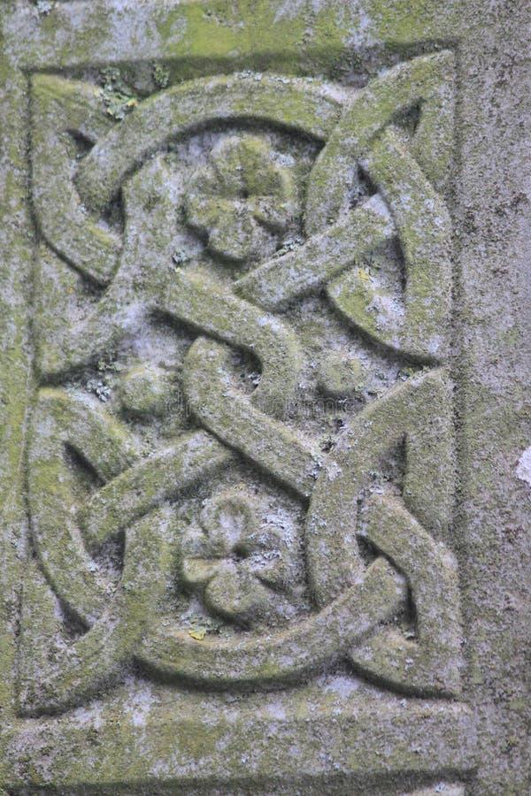 Ornamento di pietra celtico immagini stock