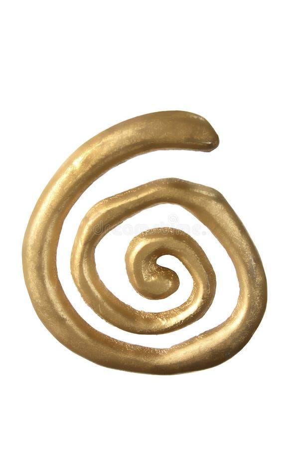 Ornamento di turbinio dell'oro fotografie stock