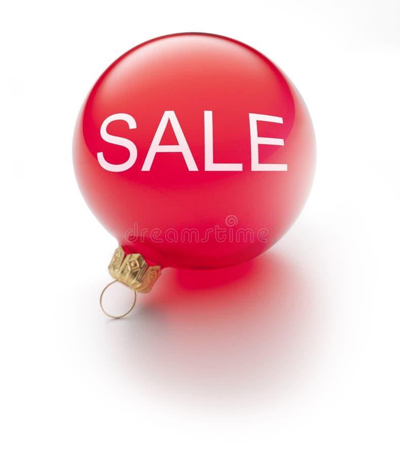Ornamento di vendita di natale fotografia stock