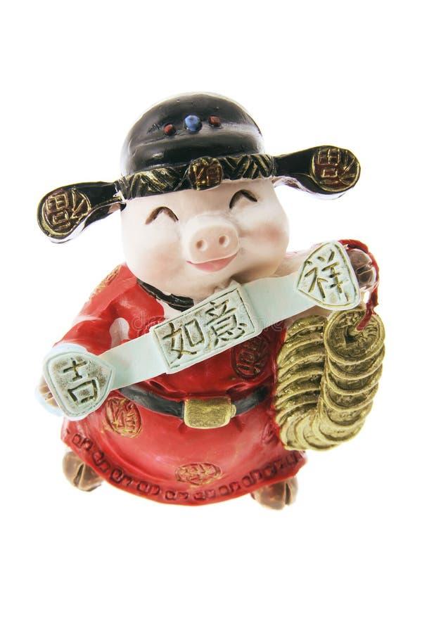 Ornamento diminuto do porco fotografia de stock royalty free