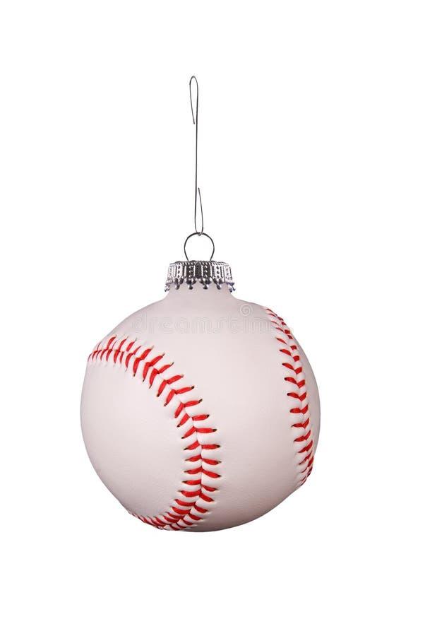 Ornamento do basebol foto de stock