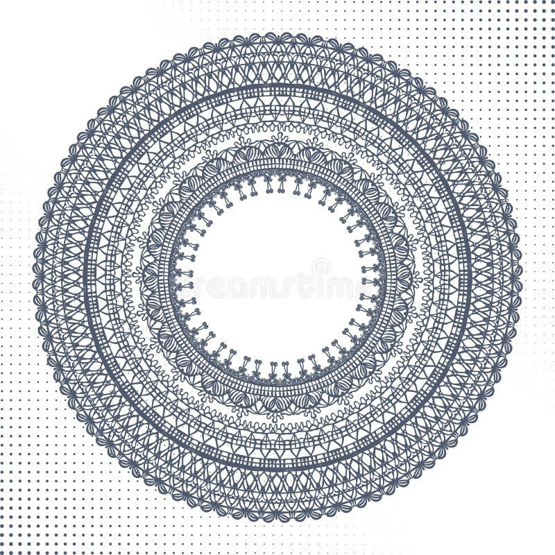Ornamento do círculo, laço redondo decorativo ilustração royalty free