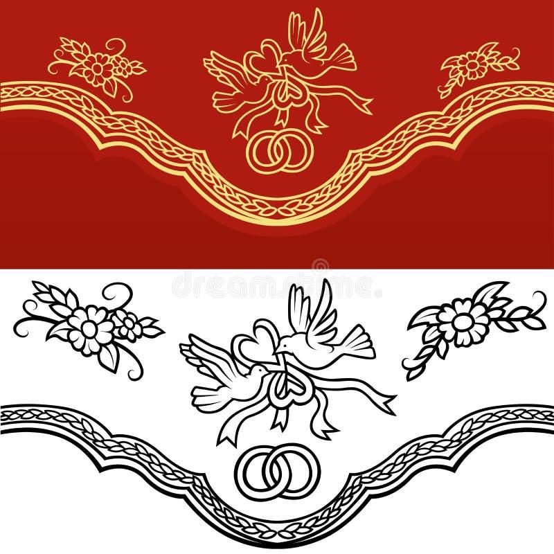 Ornamento do casamento ilustração royalty free