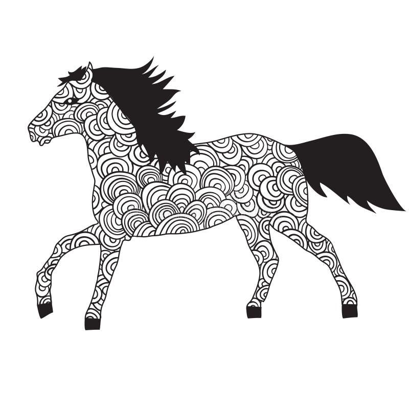 Ornamento do cavalo ilustração do vetor