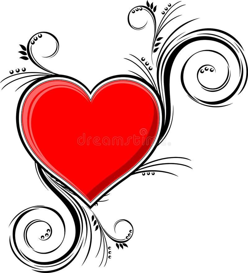 Ornamento do coração ilustração royalty free