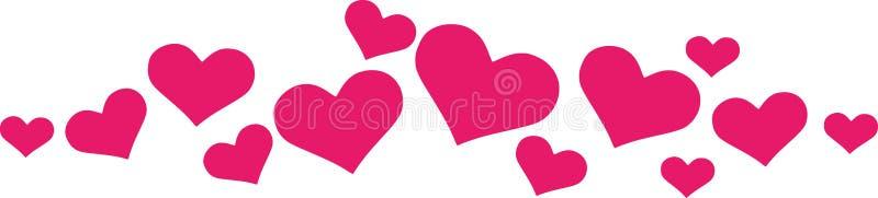 Ornamento do coração para cartões ilustração royalty free