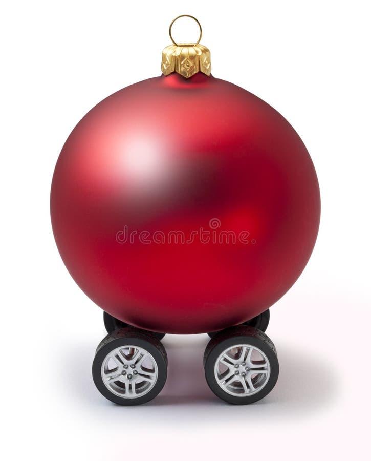 Ornamento do curso do Natal do carro imagem de stock