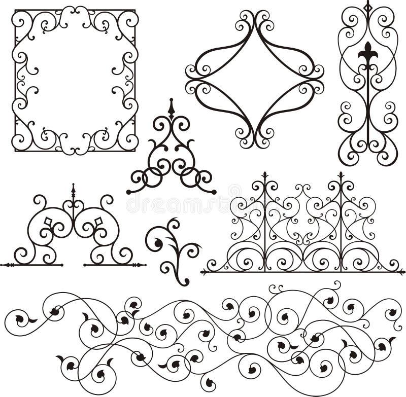 Ornamento do ferro de Wrough ilustração stock