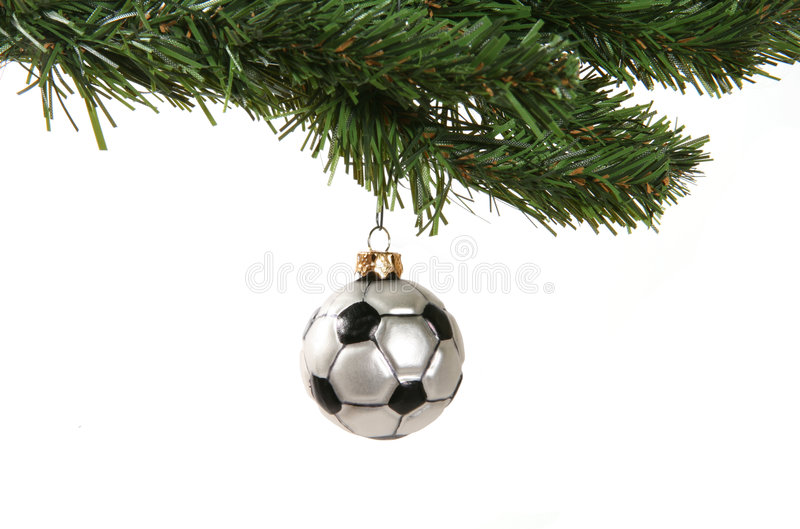Ornamento do futebol foto de stock