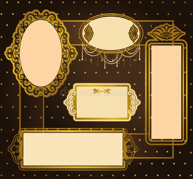 Ornamento do laço do vintage ilustração royalty free