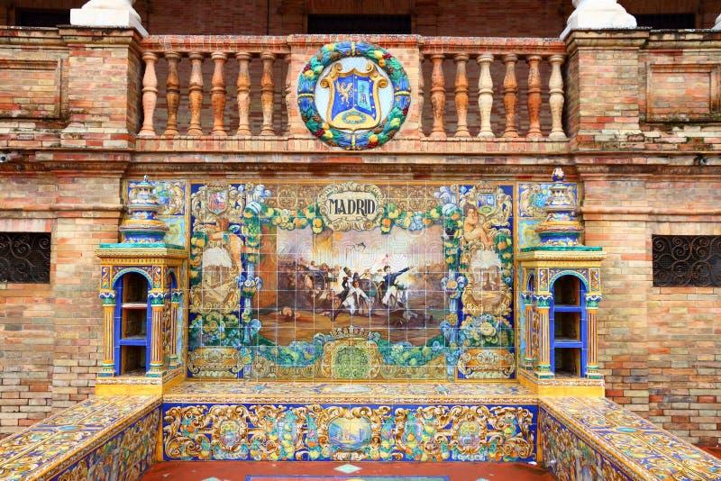 Ornamento do Madri na Espanha imagem de stock