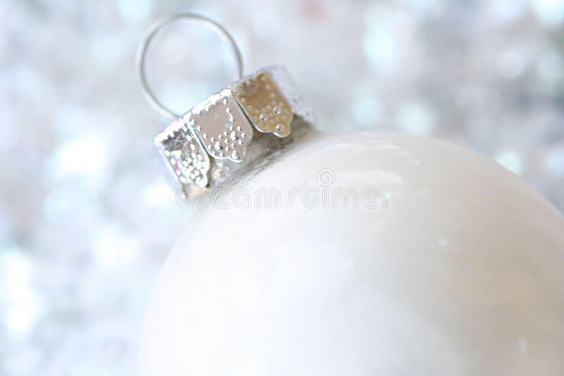Ornamento do Natal branco foto de stock