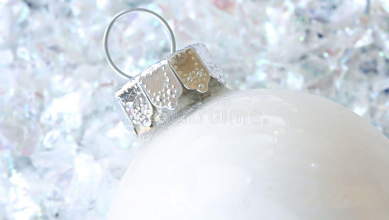 Ornamento do Natal branco fotos de stock royalty free