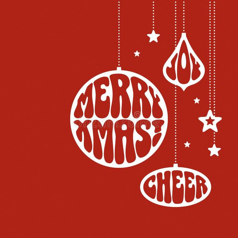 Ornamento do Natal com as palavras