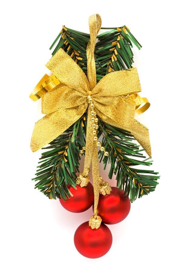 Ornamento do Natal com esferas imagens de stock