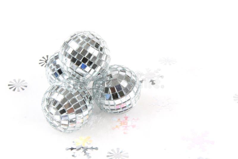 Ornamento do Natal da esfera do espelho imagens de stock